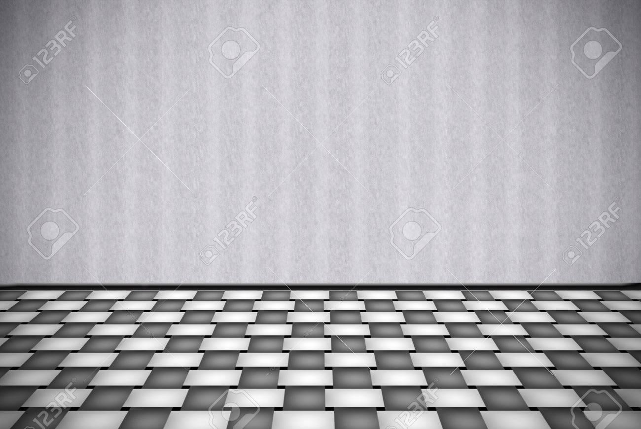 resumen de fondo gris con piso a cuadros blanco foto de archivo