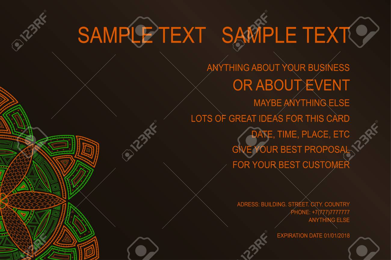Background For Event Poster Gift Certificate Invitation Card
