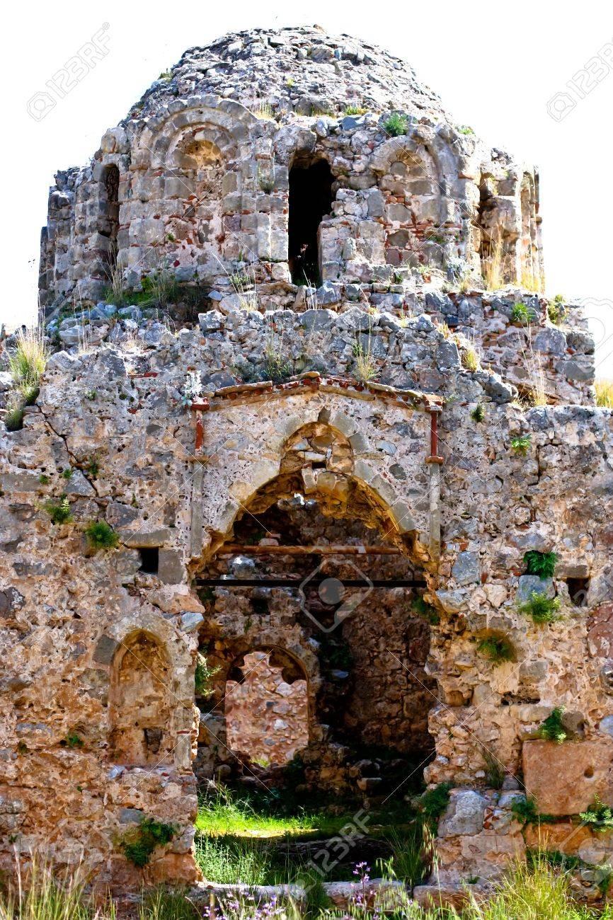 Turkey. Alanya. Ruins of Ottoman fortress. The byzantine church. Stock Photo - 13394500