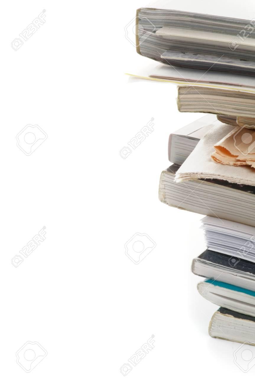 Stapel Von Zeitschriften Und Zeitungen Als Rahmen Großansicht Auf ...