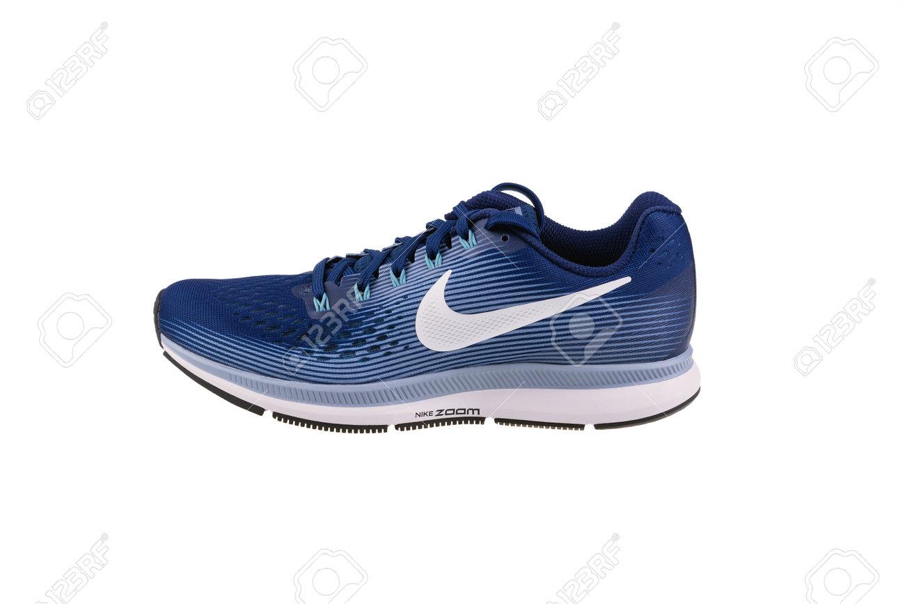 release date: 06630 1333e BURGAS, BULGARIA - SEPTEMBER 7, 2017: Nike Air Zoom Pegasus 34..
