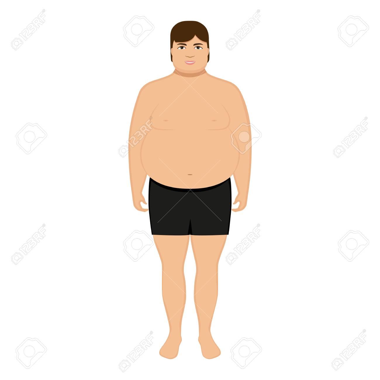 Vettoriale vector cartone animato uomo grasso isolato sfondo