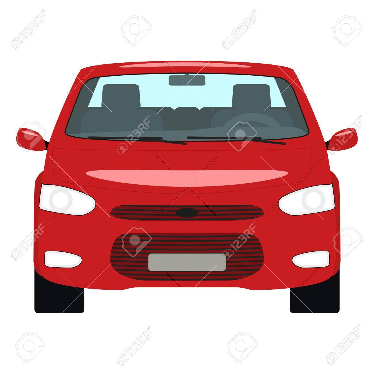 Vector Cartoon Red Car Front View Royalty Free Cliparts, Vectors ...
