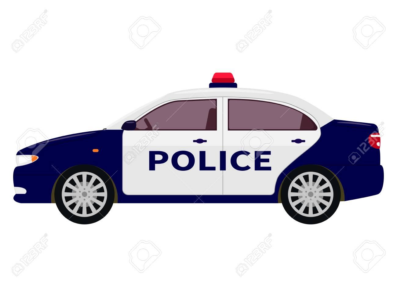 Illustration Vectorielle D Une Voiture De Police De Dessin Animé
