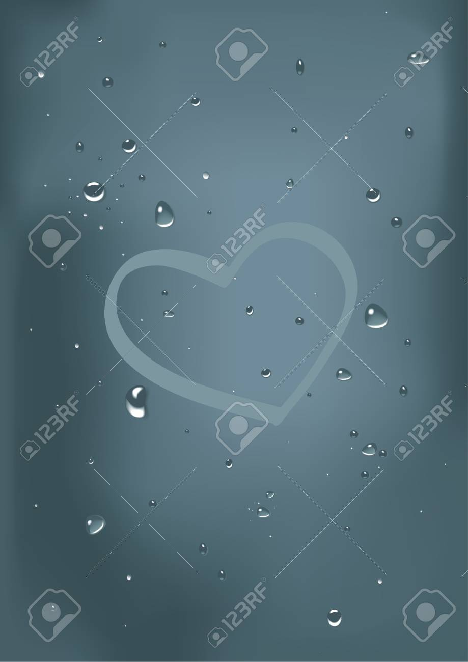 drops on glass Stock Vector - 17971958