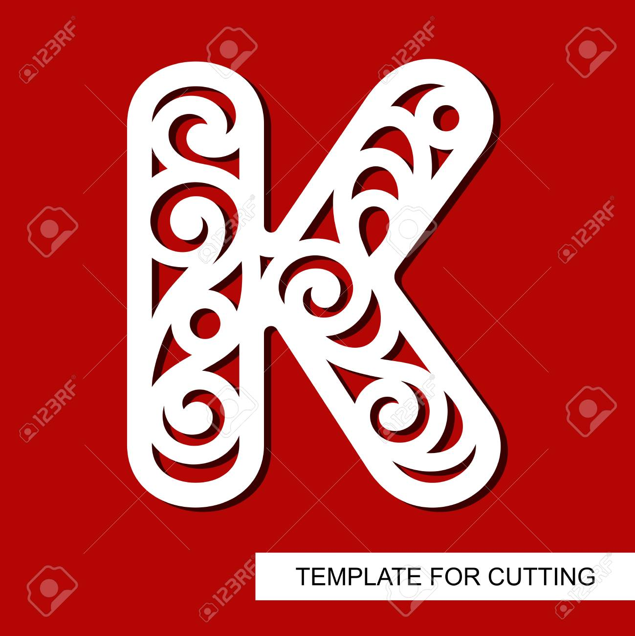 Lace letter k template for laser cutting wood carving paper lace letter k template for laser cutting wood carving paper cut and printing spiritdancerdesigns Choice Image