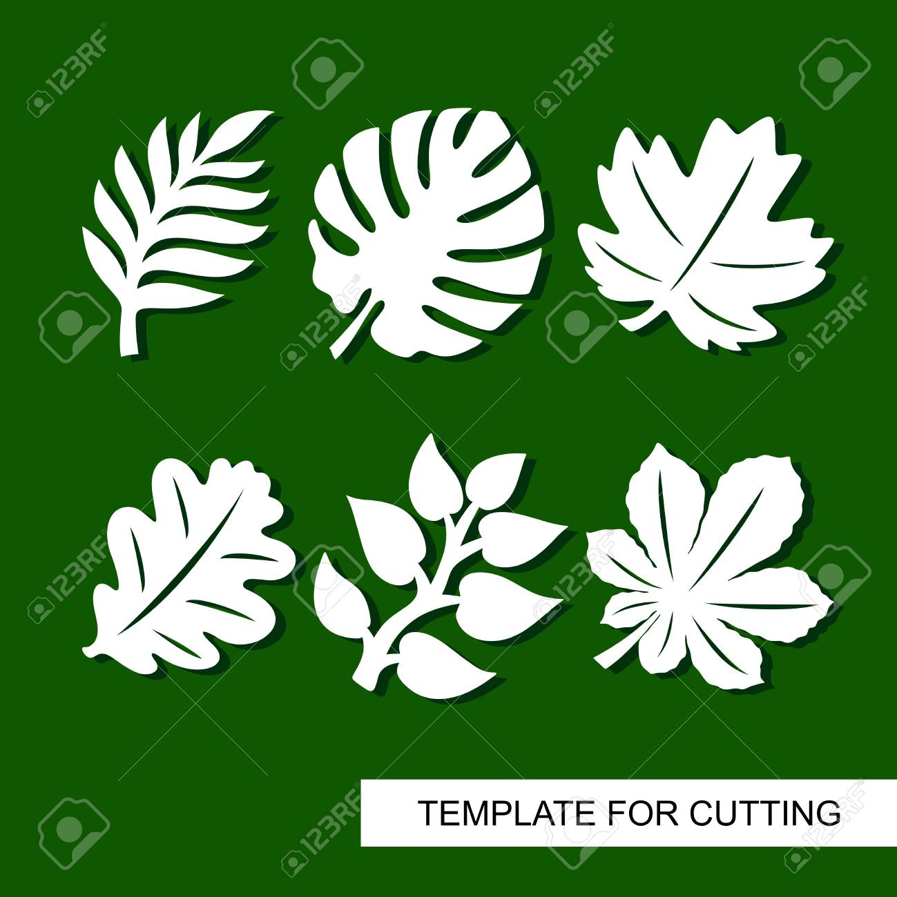 Plants Theme Silhouettes Of Tropical Palm Leaves Monstera Royalty Free Cliparts Vectors And Stock Illustration Image 102529187 Leaf template printable printable leaves heart template leaf coloring page coloring pages. 123rf com