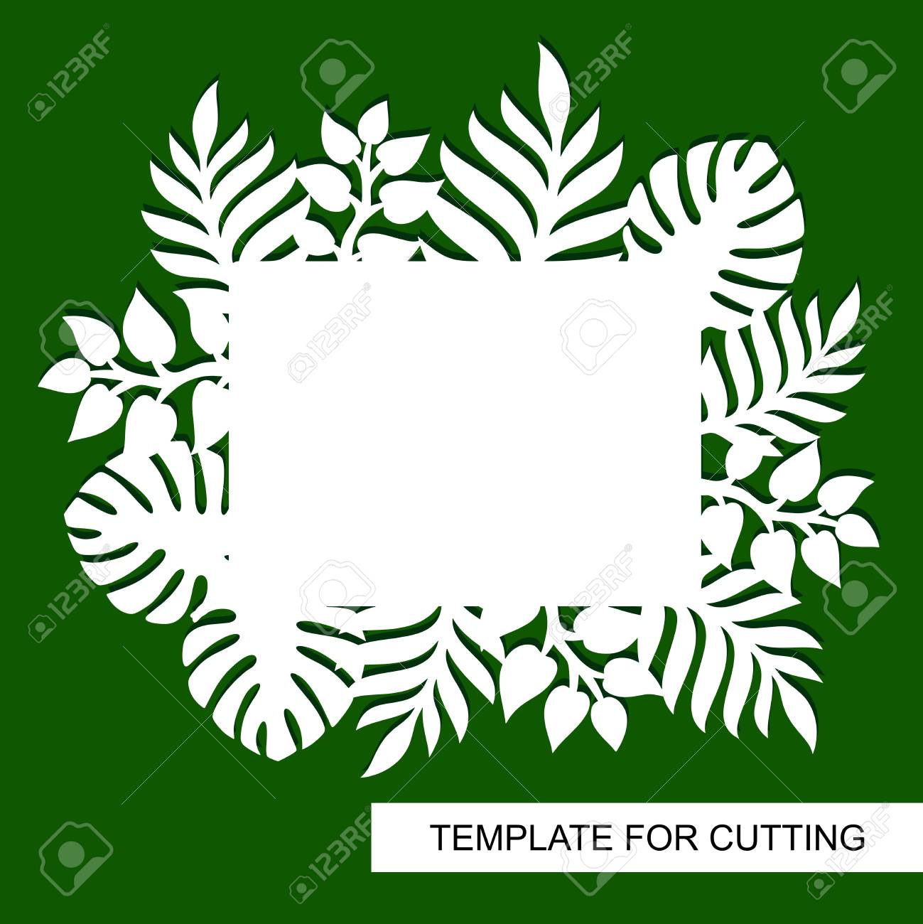 Theme Of Plants Silhouettes Of Tropical Palm Leaves Monstera