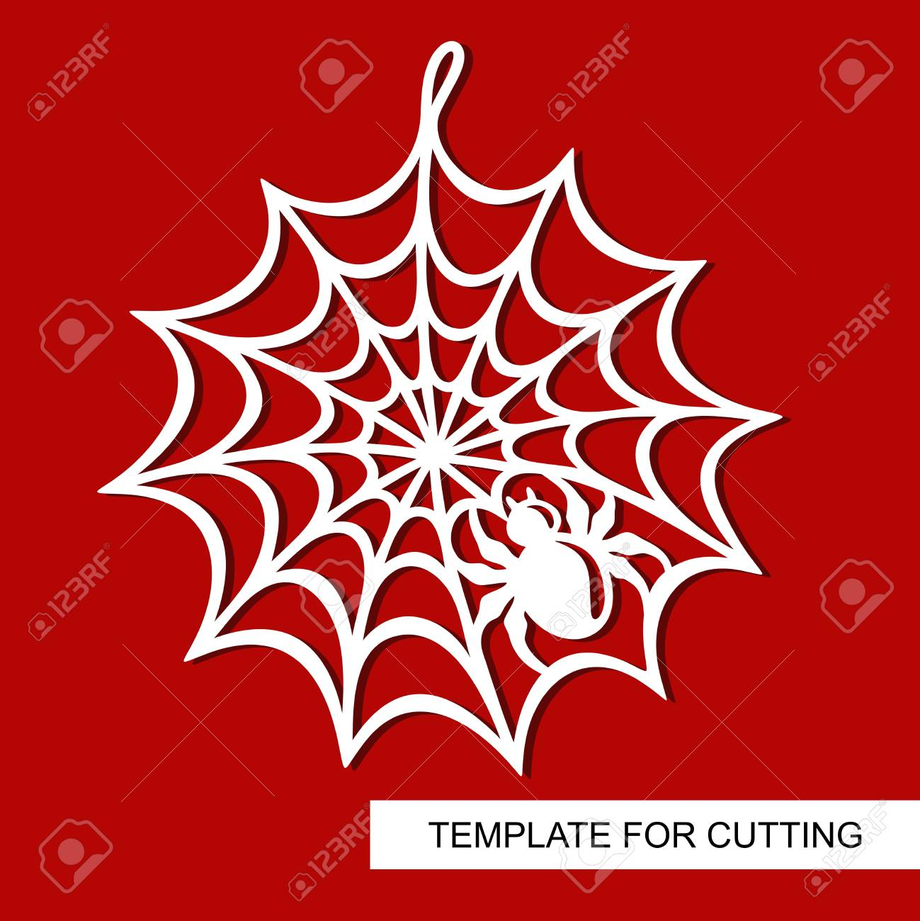 decoration for halloween spiderweb template for laser cutting