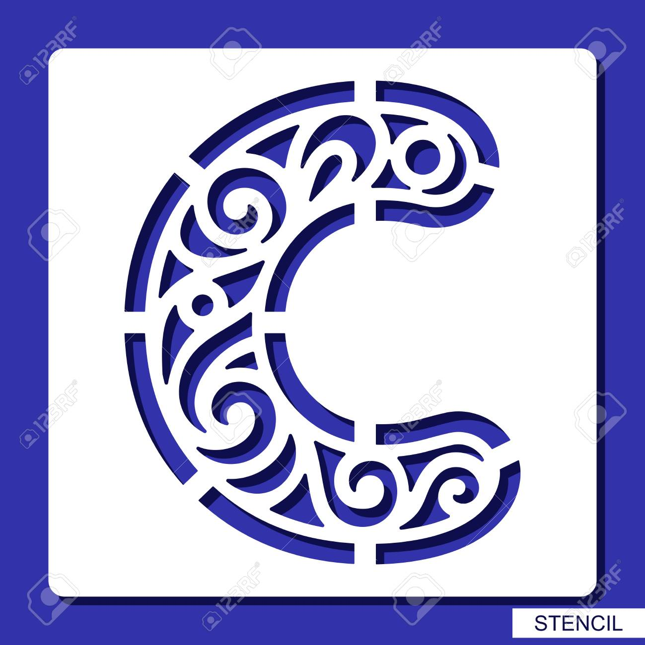 Stencil lacy letter c template for laser cutting wood carving stencil lacy letter c template for laser cutting wood carving paper cut spiritdancerdesigns Choice Image