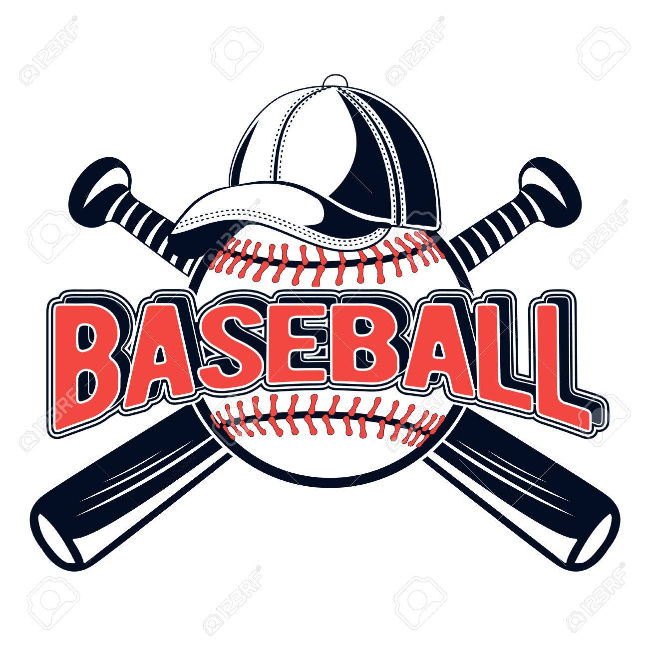vector illustration of a baseball logo for your design print rh 123rf com baseball logo designs baseball logo design software