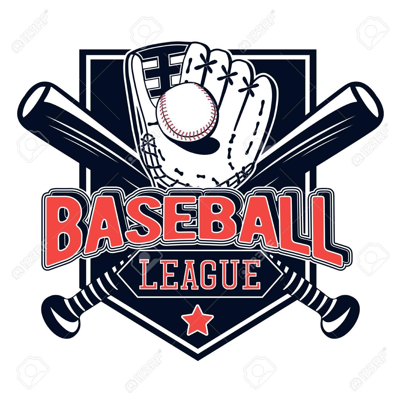 vector illustration of a baseball logo for your design print rh 123rf com baseball logo design templates baseball logo designer free