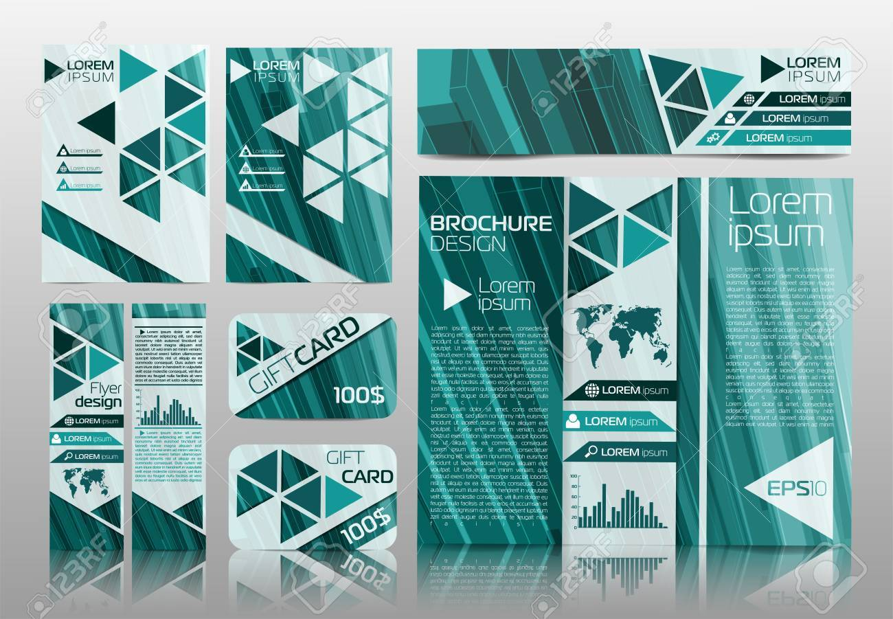 Vector Business Design Banners Gift Cards Cover Folders Booklets
