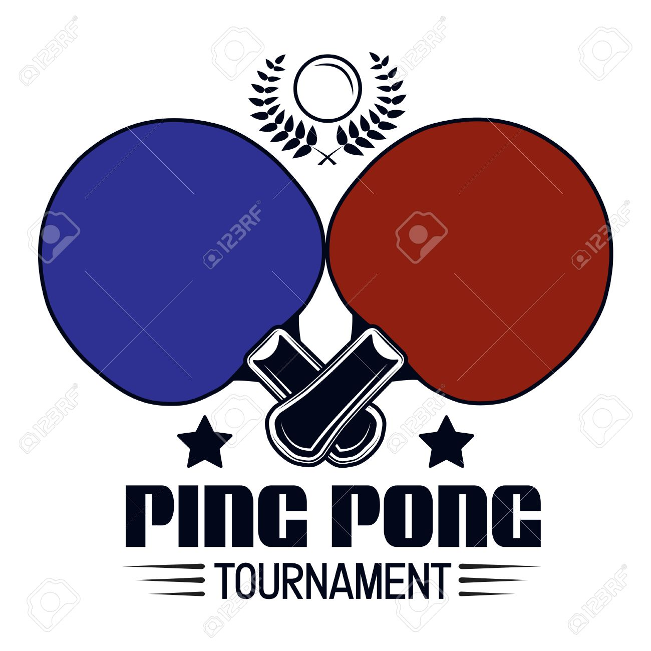Logo Design Ping Pong Tournament For Printing Press And On T Shirts