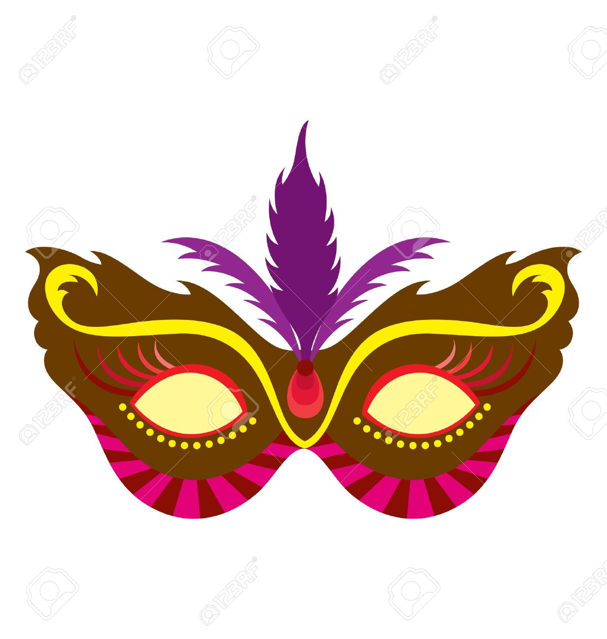 a mardi gras mask illustrated with striking colors and shapes rh 123rf com mardi gras vector art free mardi gras vector art
