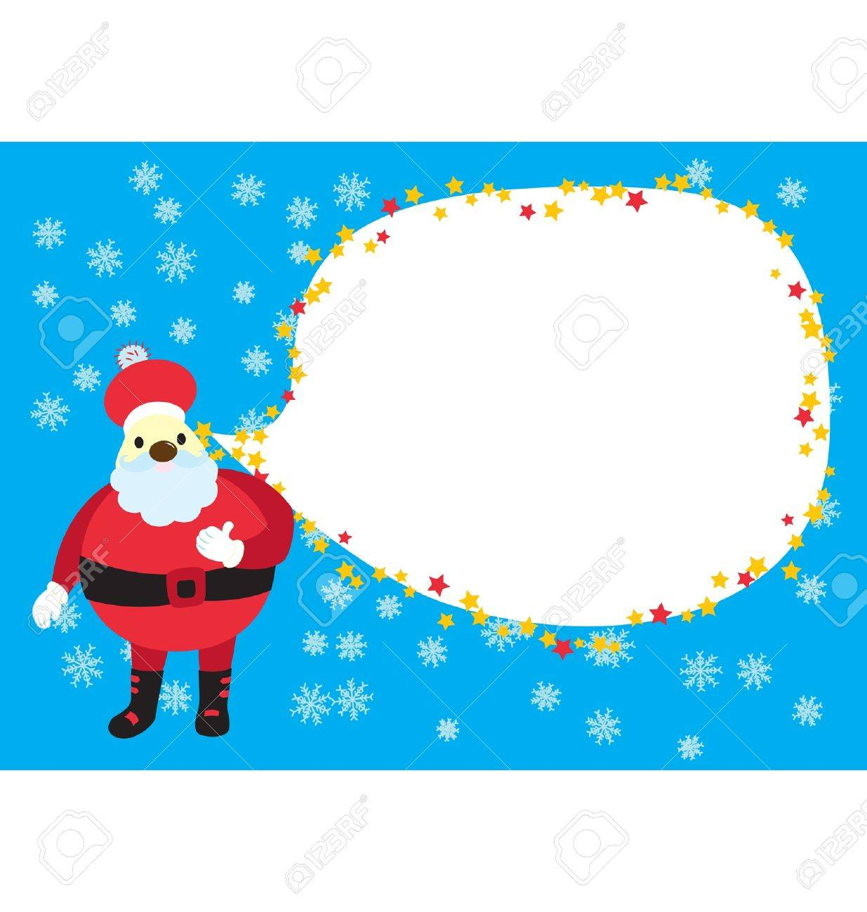 A template for christmas greeting card or gathering invitation a template for christmas greeting card or gathering invitation with as santa clause sending the message stopboris Gallery