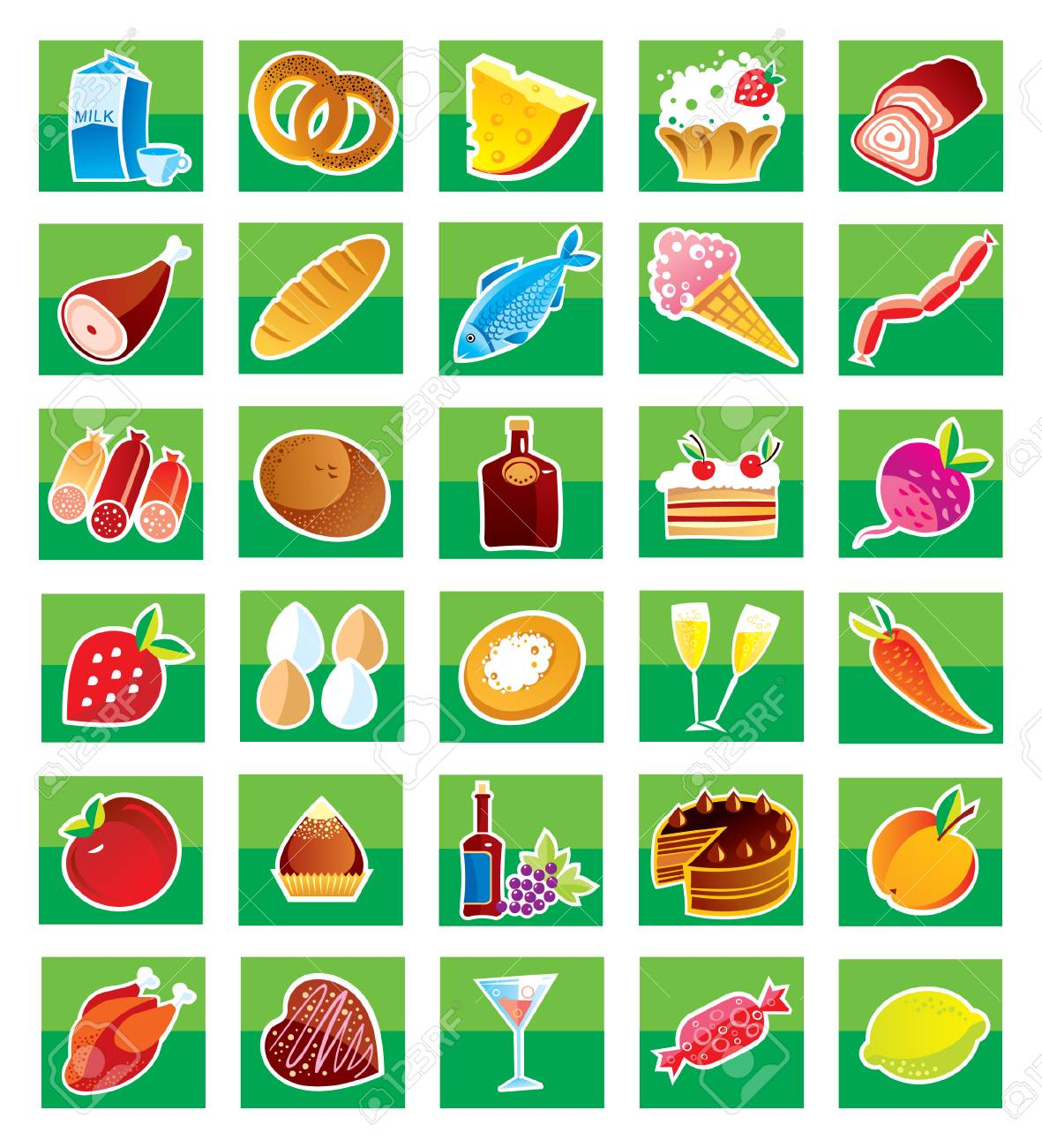 Set Symbols Of Products Royalty Free Cliparts Vectors And Stock