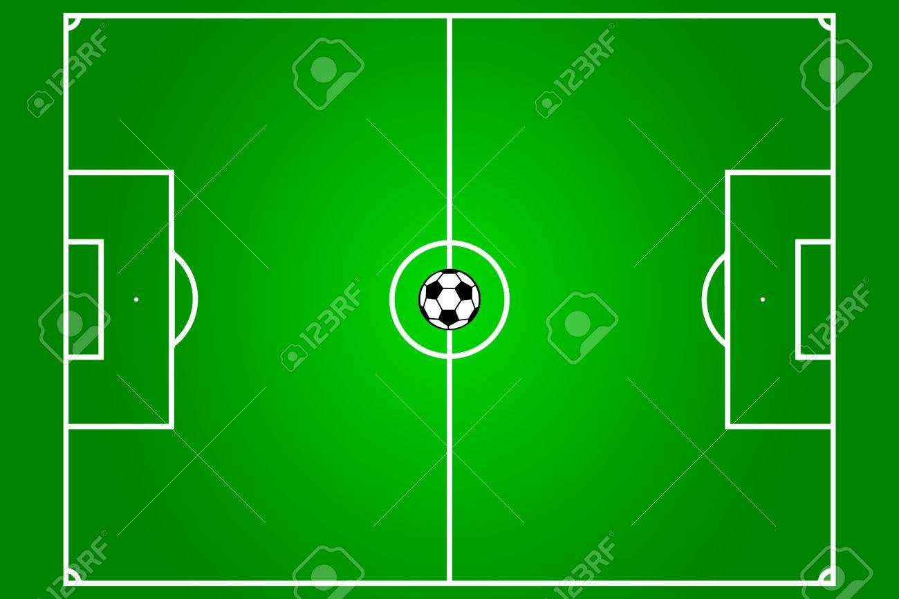 football field with ball in the centre Stock Vector - 2831403