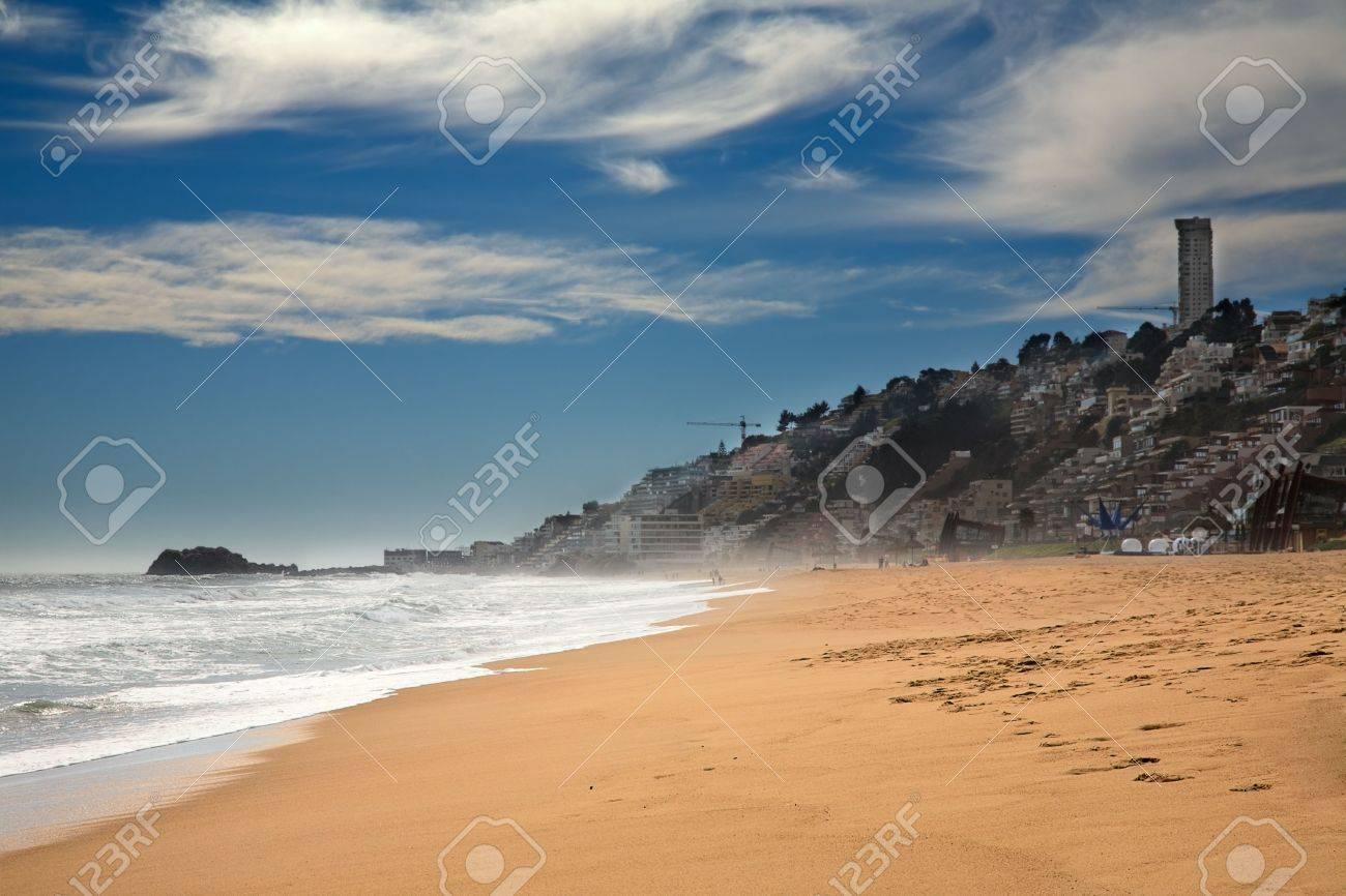 beach at Vina del Mar, Chile - 8064202