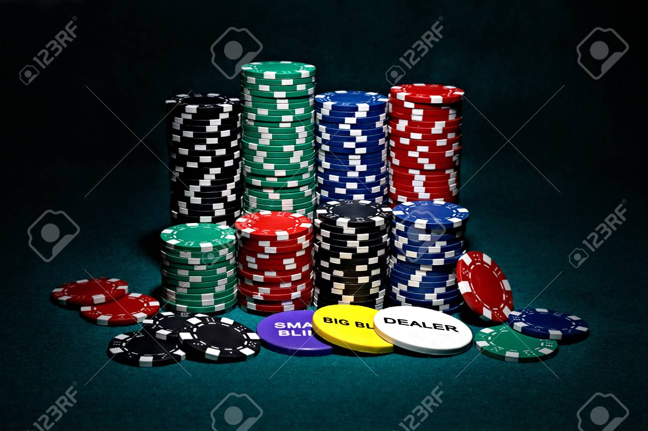 stacks of chips for poker Stock Photo - 9456051