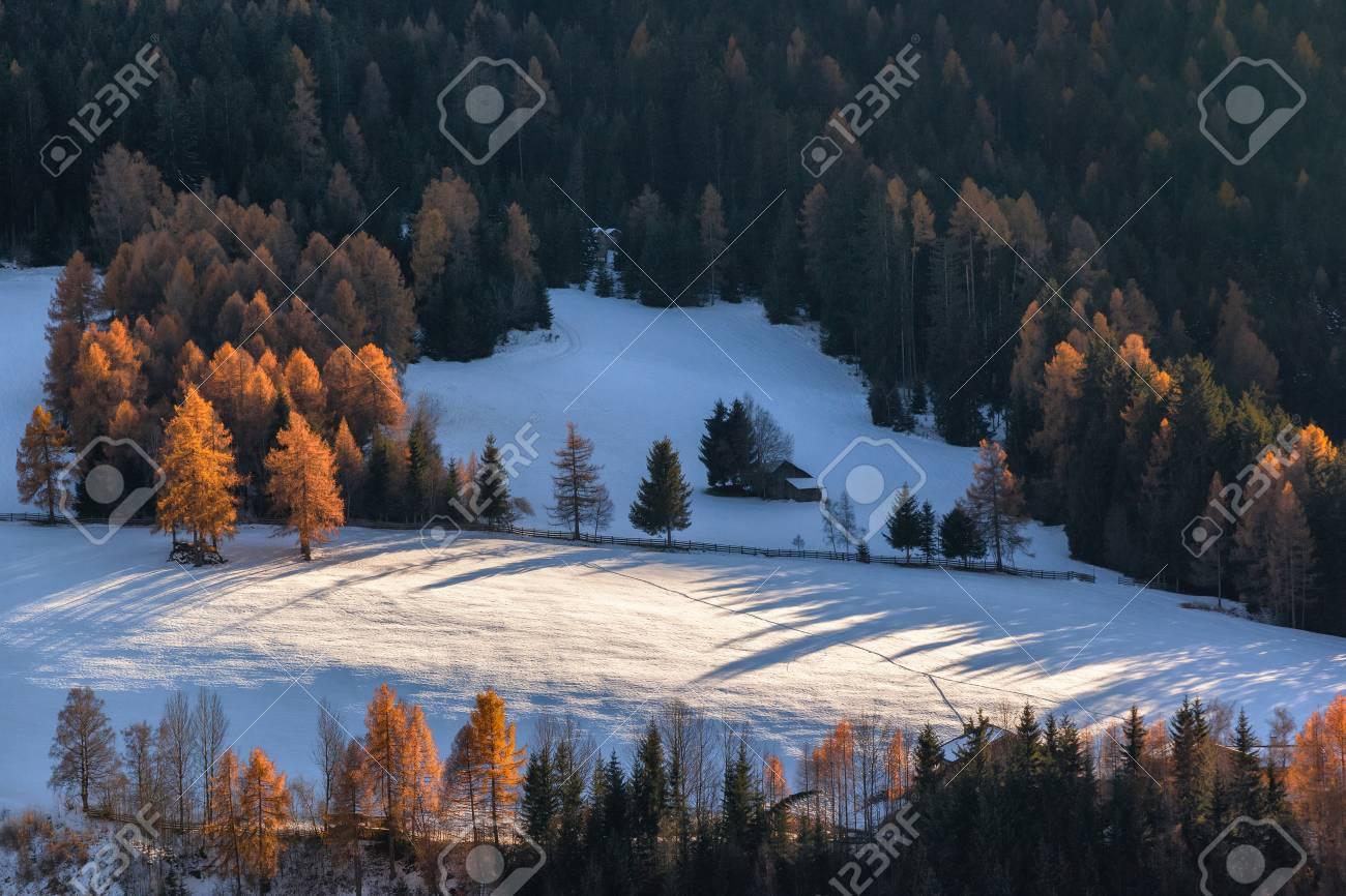 冬晴れた日に聖マグダレナ村、フ...