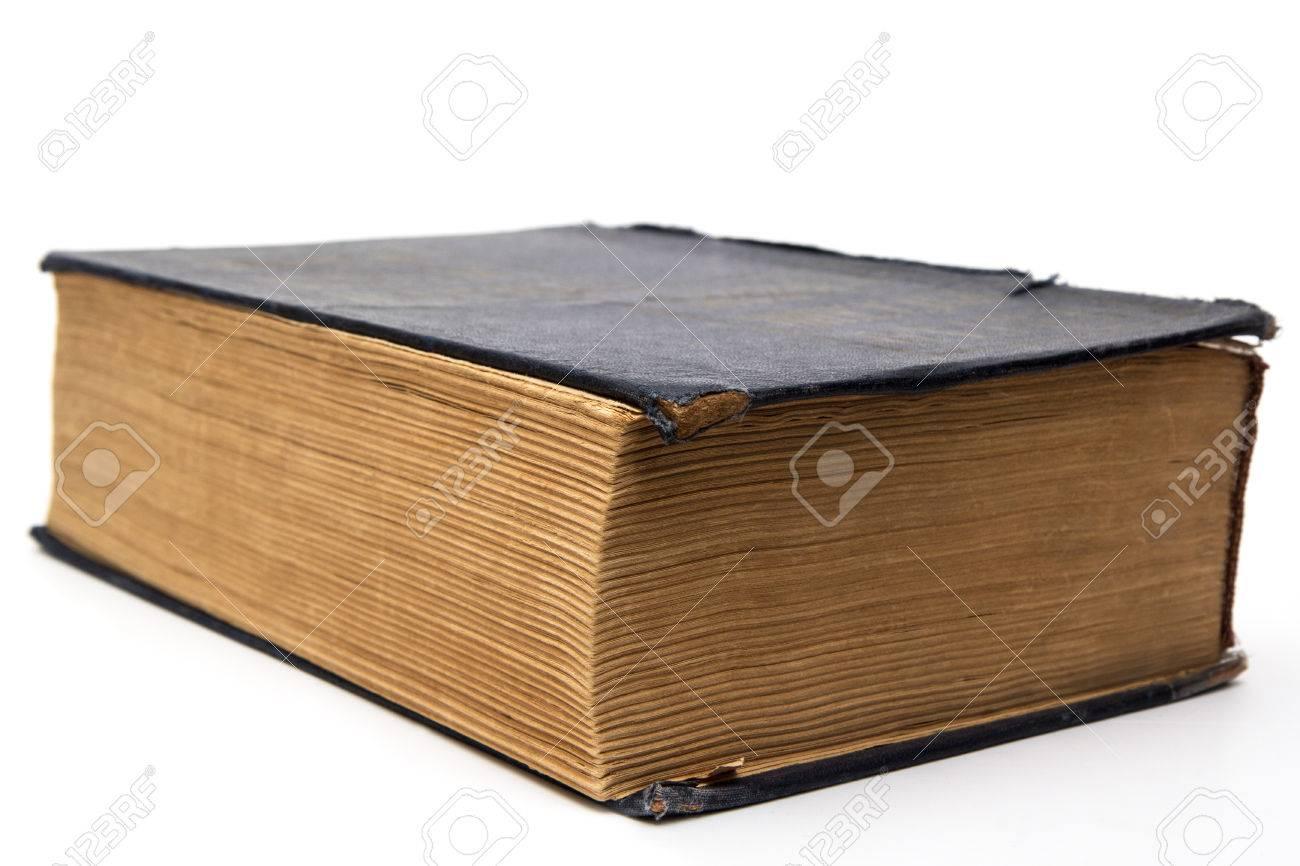 Ancien Grand Livre Ferme Sur Fond Blanc Banque D Images Et