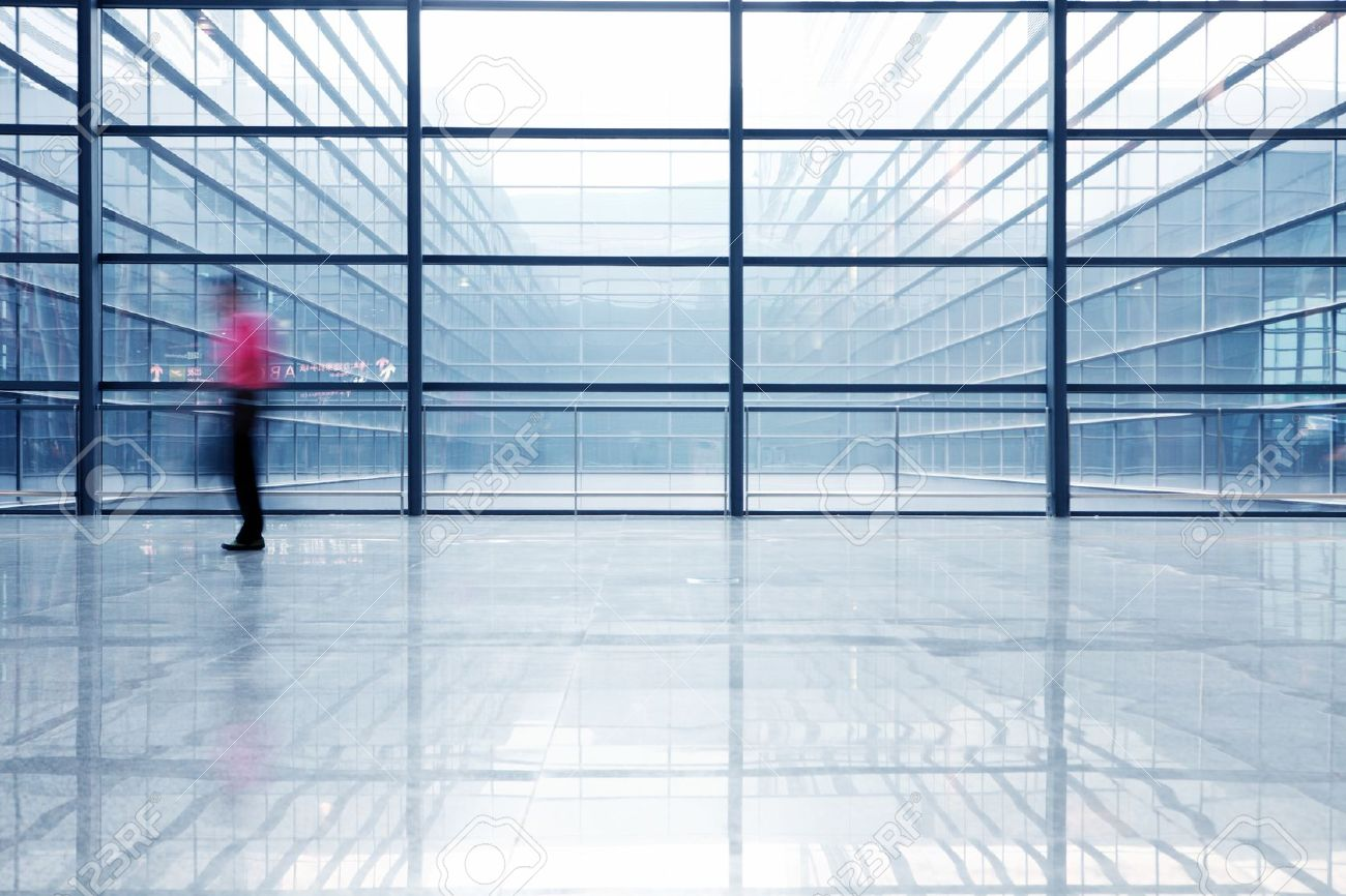 People Silhouette In Hall Of Office Building Stock Photo Picture