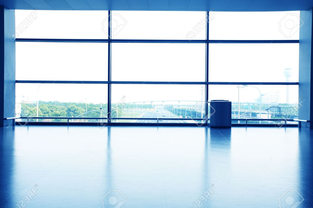Interior office windows - Office Interior With Glass Wall Stock Photo 12591098
