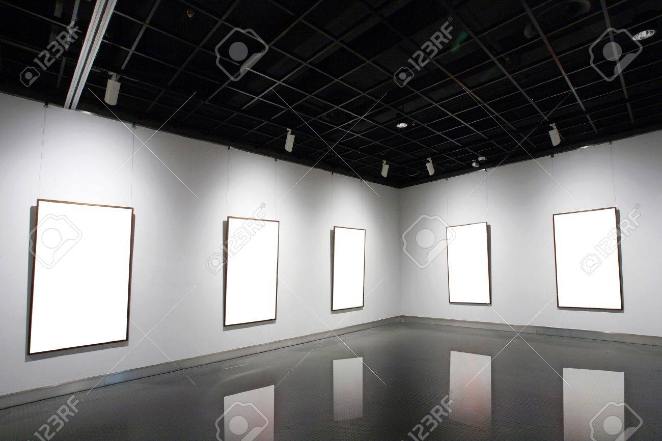 empty frames in a room against a white wall Stock Photo - 13417481