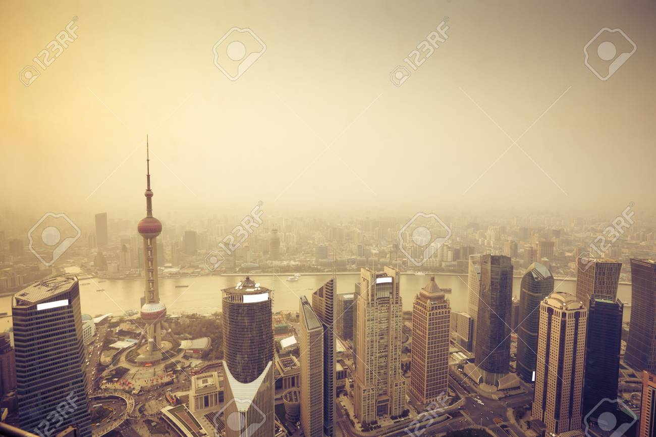 overview of modern building shanghai Stock Photo - 13493849