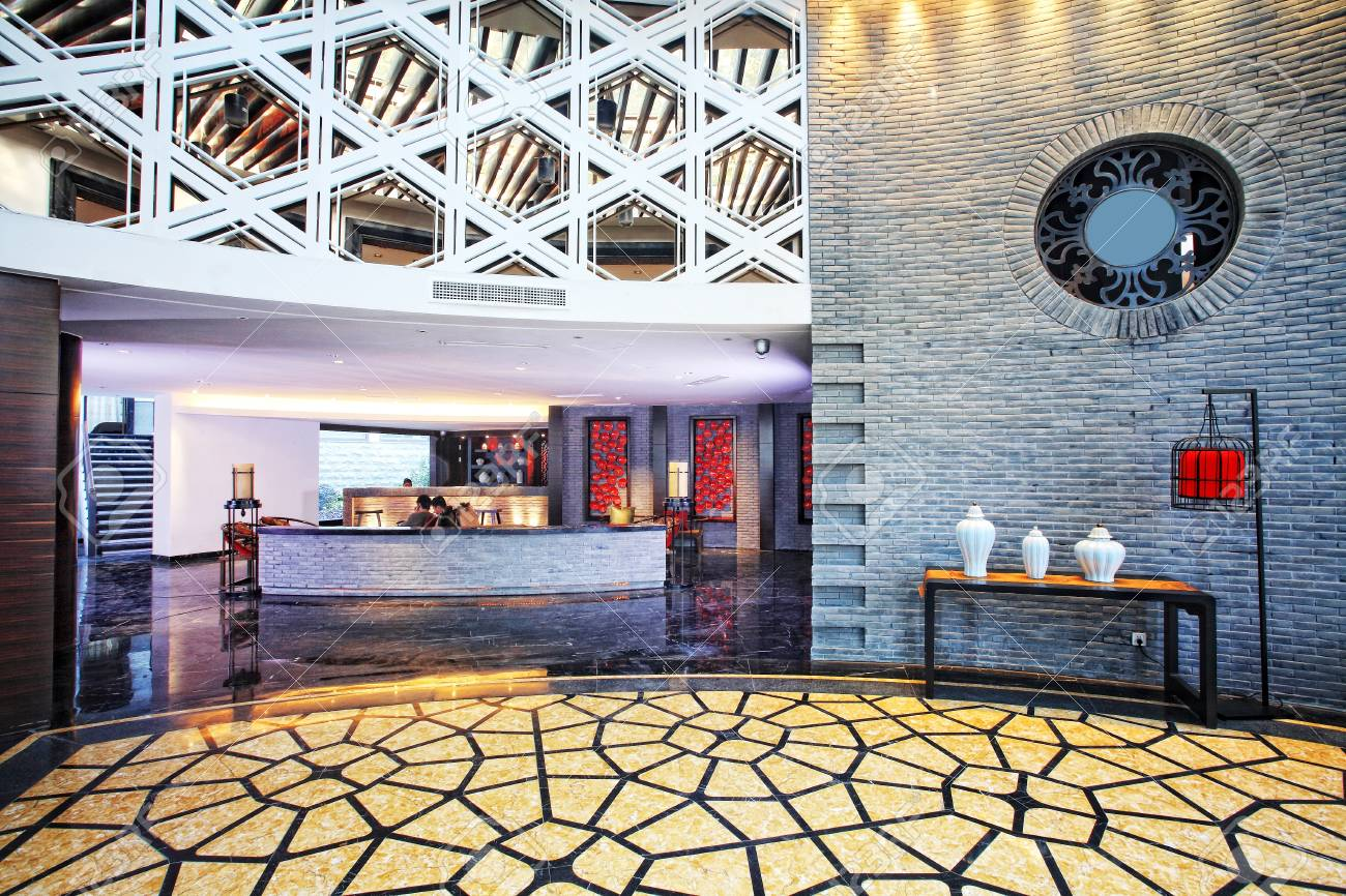 structure and the furnishings within the Chinese classical hotel Stock Photo - 13491365