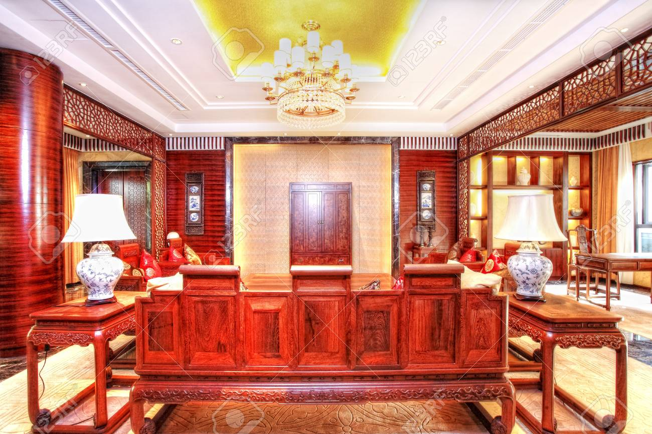 structure and the furnishings within the Chinese classical hotel Stock Photo - 13537849