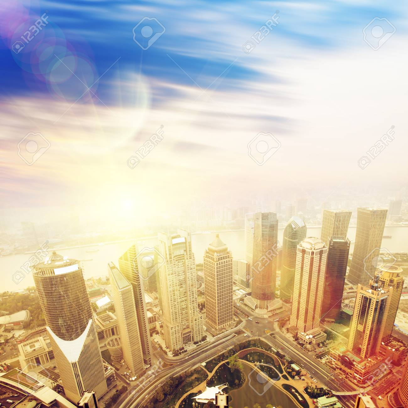 overview of modern building shanghai Stock Photo - 13762403
