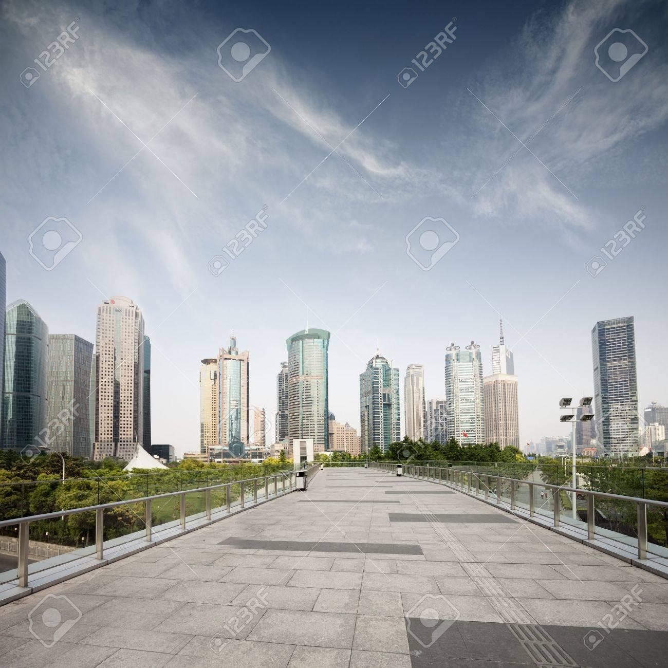 Way to modern city in Shanghai - 42268813