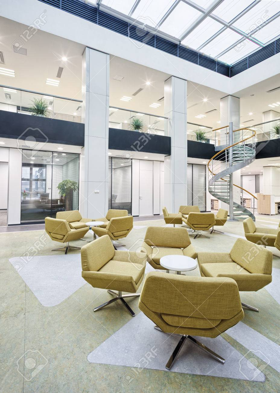 Modern Office Lobby Hall Interior Stock Photo, Picture And Royalty ...