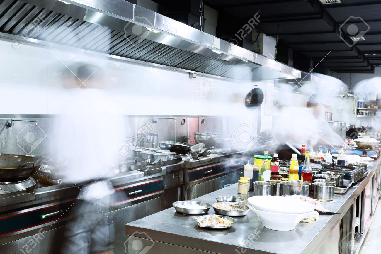 Busy Restaurant Kitchen Modern Kitchen And Busy Chefs Stock Photo Picture And Royalty
