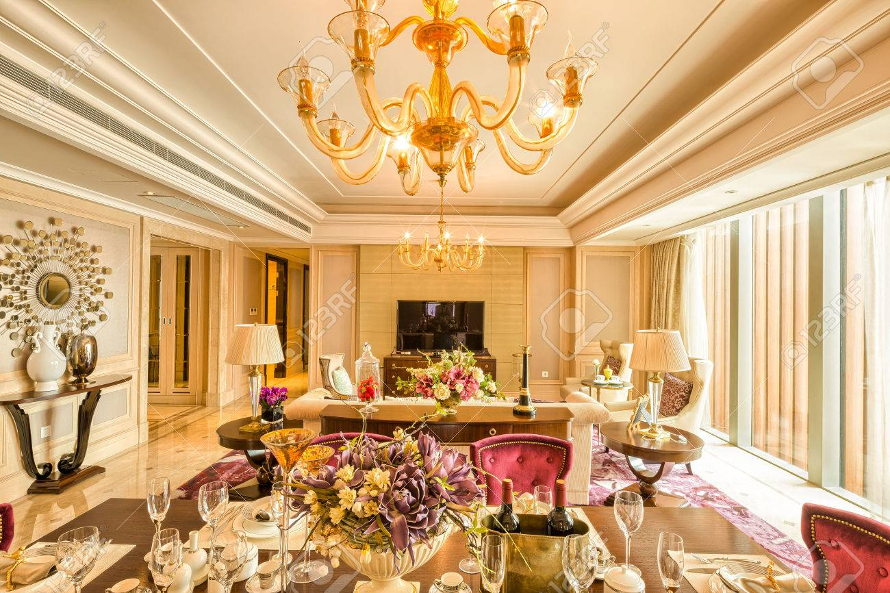 Luxe Salon Et Le Mobilier Avec Un Design Et Une Décoration Haut De