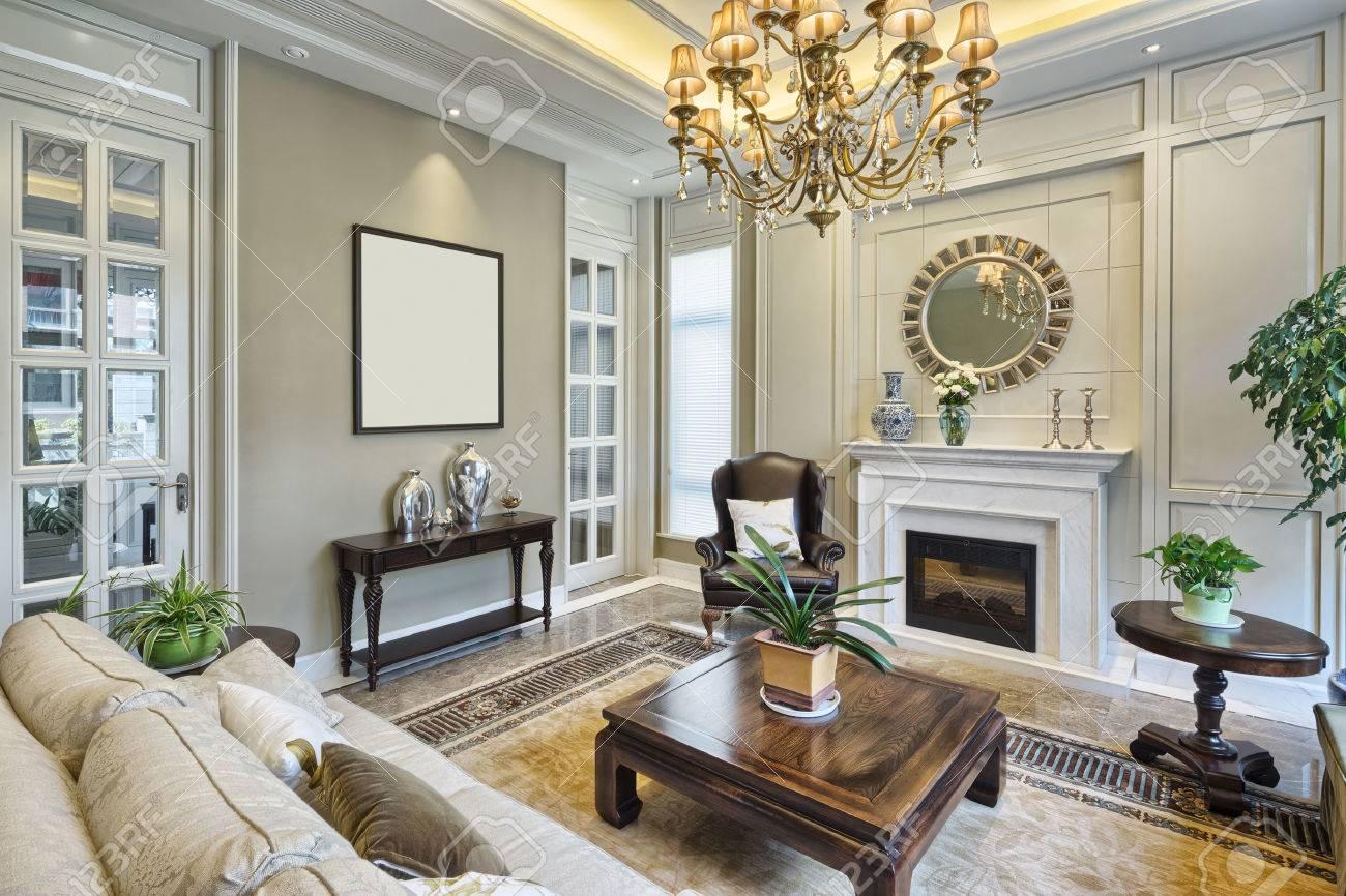 Luxus Wohnzimmer Innenraum Standard Bild   42073872