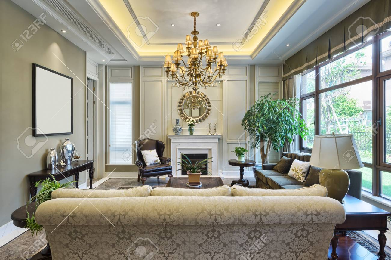 stock photo luxury living room interior - Luxury Sitting Rooms