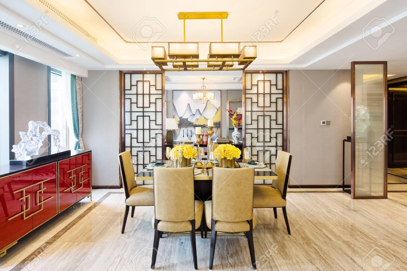 Mobili Della Sala Da Pranzo : Arredamento e design della moderna sala da pranzo foto royalty