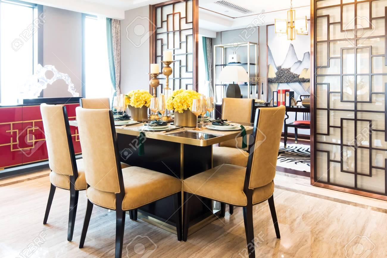 Muebles y diseño de comedor moderno