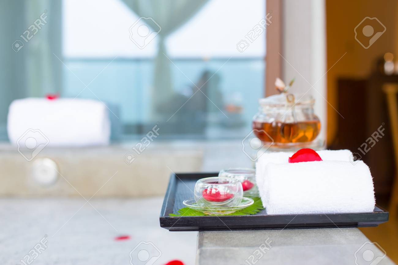Interior Of Modern Spa Bathroom Stock Photo, Picture And Royalty ...