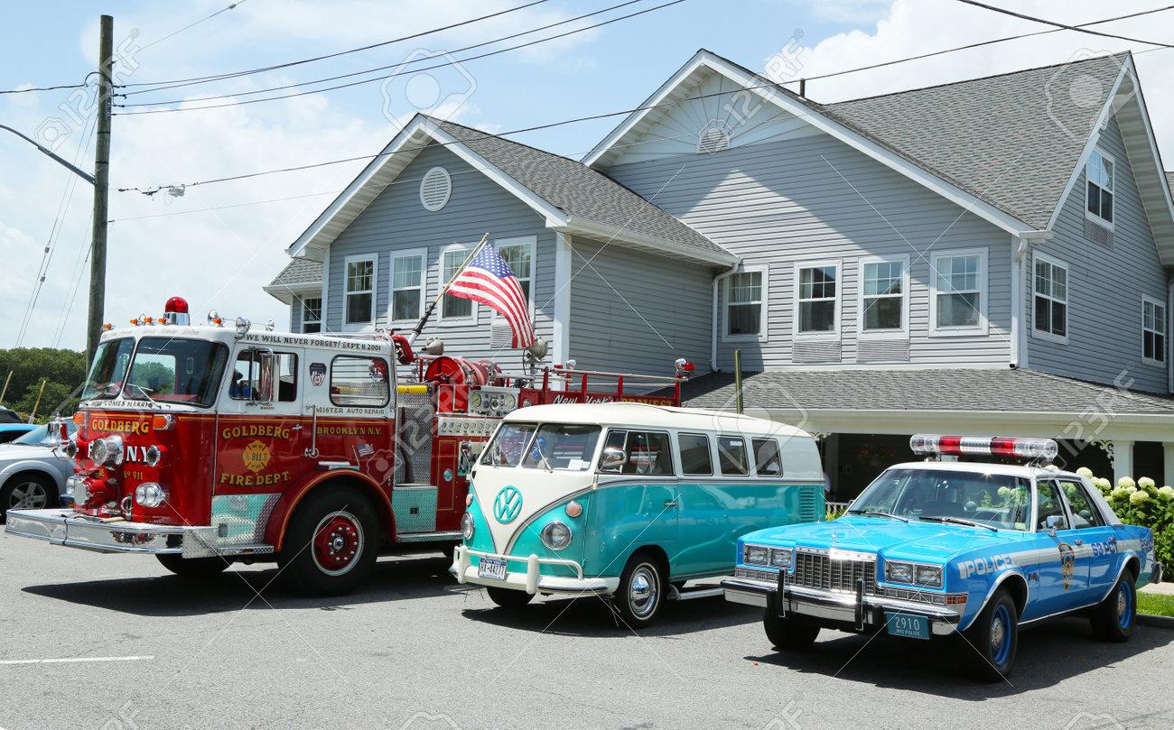 BROOKLYN NEW YORK JULY Fire Truck Volkswagen Bus - Volkswagen new york