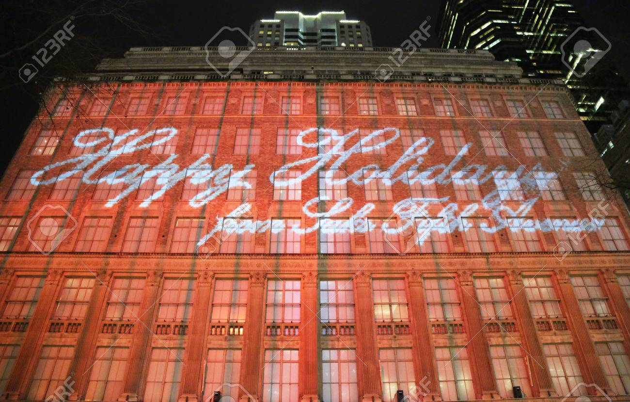 NEW YORK - DECEMBER 19 Macy S Christmas Light Show Near ...