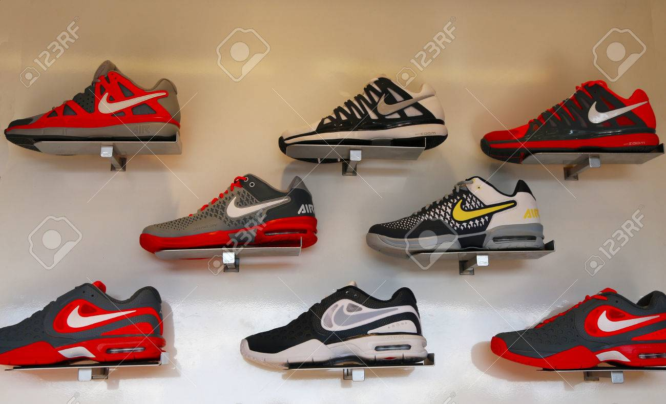 la meilleure attitude 098c3 b09e8 NEW YORK - SEPTEMBER 8 Nike presented new tennis shoes collection..