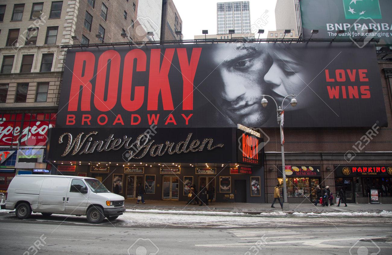 New York 26 Januar Das Aussere Des Winter Garden Theater Das