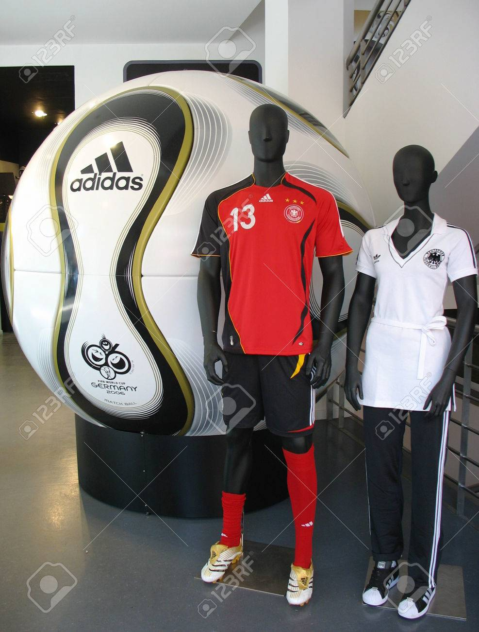 GERMANY - JULY 27 The Adidas Teamgeist soccer ball on display on July 27 483c4ec7a889