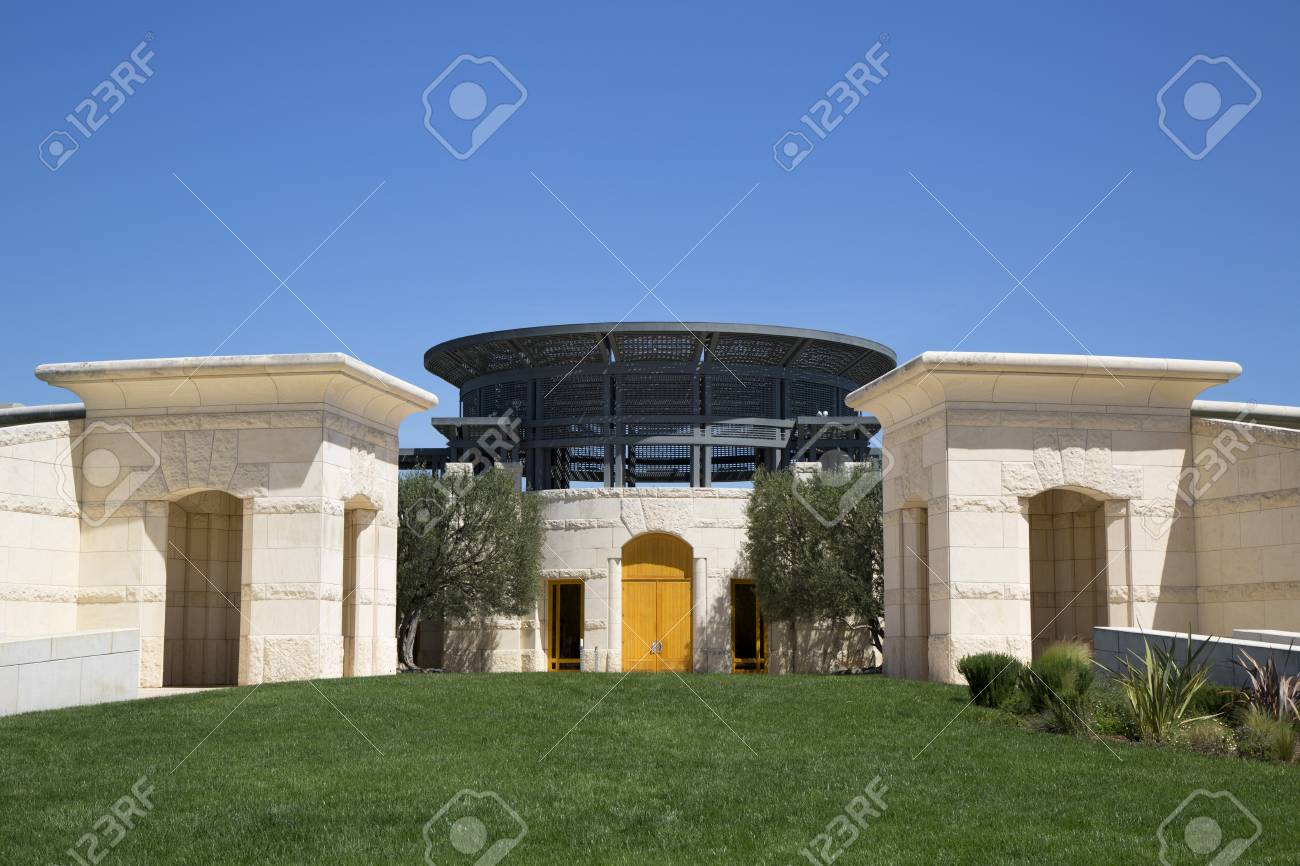 Napa Valley Ca April 14 Opus One Winery In Napa Valley On Stock Photo Picture And Royalty Free Image Image 30196833
