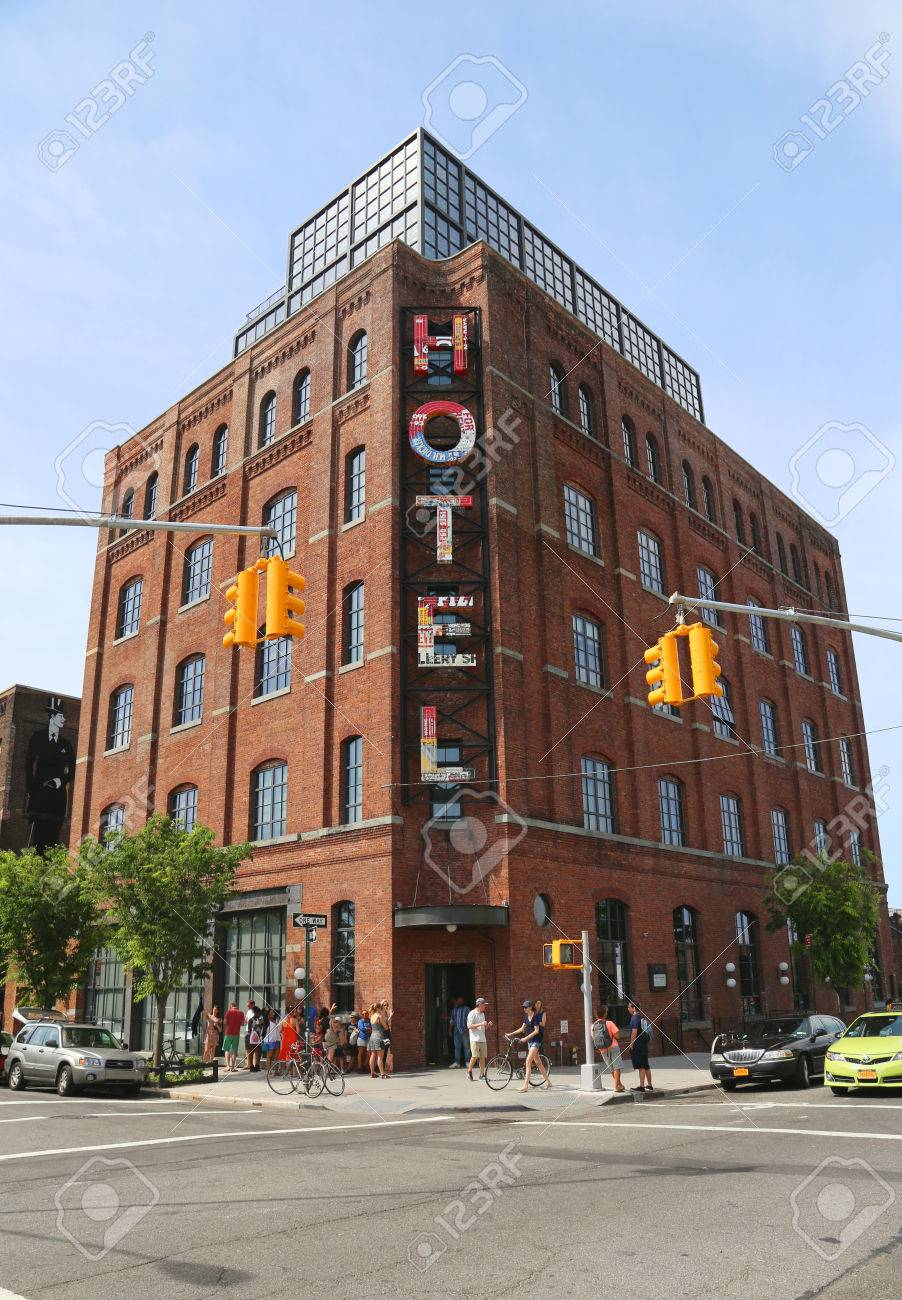 NEW YORK - JUNE 21 Boutique Wythe Hotel in Williamsburg section