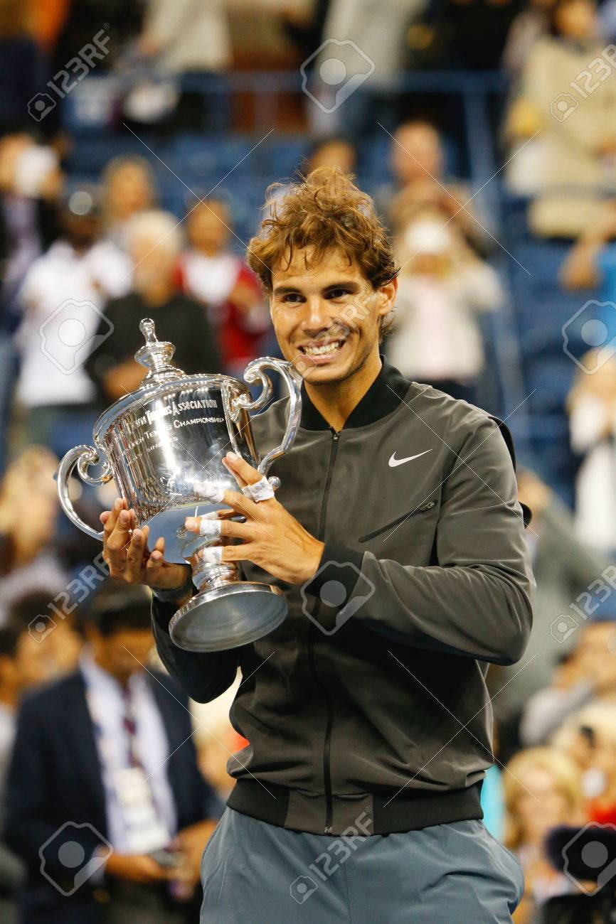 New York September 9 Us Open 2013 Champion Rafael Nadal Holding Stock Photo Picture And Royalty Free Image Image 30767682